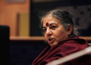 La scientifique indienne Vandana Shiva