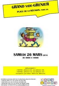 Vide-grenier place de la Réunion Paris 20. Samedi